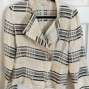 MaxMara linen blend fitted jacket